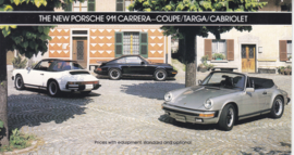 911 Carrera Coupe/Targa/Cabriolet brochure, 6 pages, 1984, English (USA)