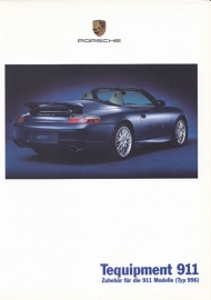 911 Tequipment (996) brochure, 32 pages, 08/2000, German