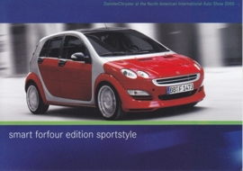 Smart Forfour Edition Sportstyle, A6-size postcard, NAIAS 2005