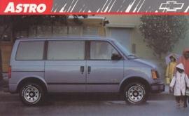 Astro Passenger Van,  US postcard, large size, 19 x 11,75 cm, 1989