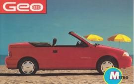 Metro Convertible, US postcard, standard size, 1992
