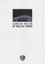 Delta HF Rallye Turbo folder, A4-size, 6 pages, 3/1989, German language
