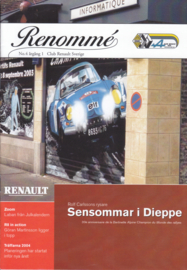 Renommé Renault magazine,  A5-size, 20 pages, Swedish language, issue 4