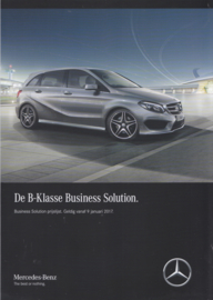 B-Class Business Solution special edition brochure, 4 pages, 01/2017, Dutch language