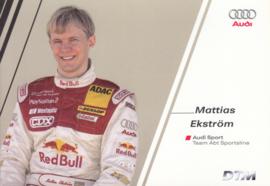 DTM racing driver Matthias Ekström, unsigned postcard 2004 season, German language
