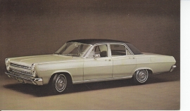 Comet Caliente 4-Door Sedan, US postcard, standard size, 1966