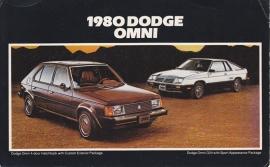 Dodge Omni, large US postcard, 12,5 x 20 cm, 1980