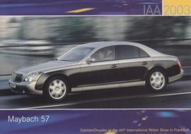 Maybach 57, A6-size postcard, IAA 2003