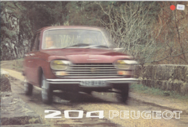 204 Sedan & Break brochure, 12 pages, A4-size, 07/72, Dutch language