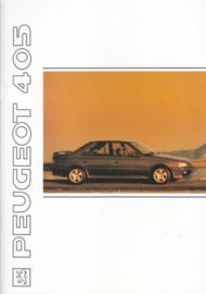 405 Sedan brochure, 36 pages, A4-size, 1991, English language
