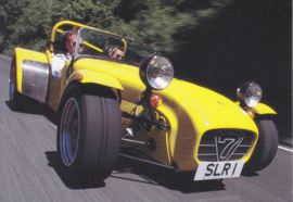 Caterham Superlight R500, advertising postcard, English, about 2008