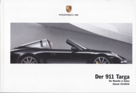 911 Targa pricelist brochure, 106 pages, 03/2015, German