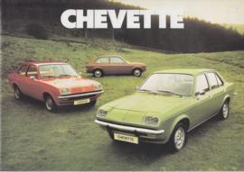 Chevette model range, 12 pages, Dutch language, about 1978