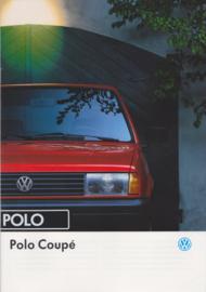 Polo Coupé brochure, A4-size, 20 pages, 01/1993, Dutch language