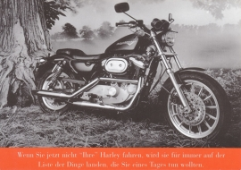 Harley-Davidson Sportster, larger size postcard, German language, EC-600007-98G