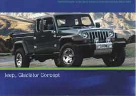 Jeep Gladiator Concept, A6-size postcard, NAIAS 2005