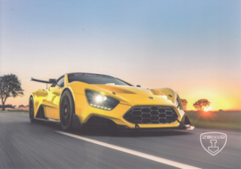 Zenvo TS1 sports car, A5-size postcard, factory-issued, 2018, month: May