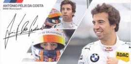 DTM driver Antonio Felix da Costa, oblong autogram card, 2014, German/English