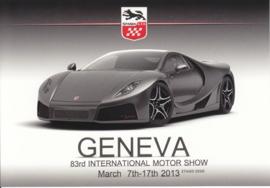 GTA Spano, postcard, continental size, Geneva show, 2013