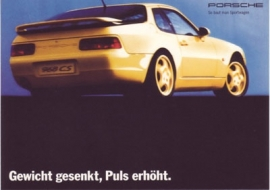 968 CS Coupe postcard, DIN A6 size, factory-issue, about 1993