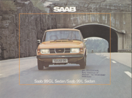 99 GL/L Sedan brochure, 24 pages, 1976, Dutch language