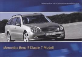 Mercedes-Benz E-Class T-Model, A6-size postcard, Geneva 2003