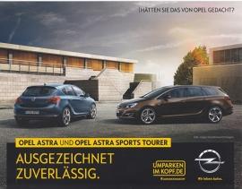 Astra & Astra Sports Tourer, 2 page leaflet, 02 59 530, 2014, German