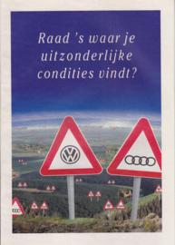 VW/Audi program brochure, 24 pages,  A4-size, Dutch language, 01/1994 Belgium