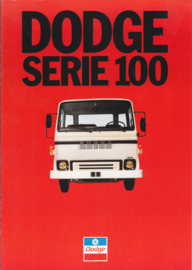 Serie 100 truck brochure, 8 pages, about 1980, French language
