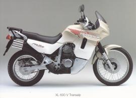 Honda XL 600 V Transalp postcard, 18 x 13 cm, no text on reverse, about 1994