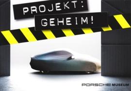 Project Geheim (Secret), Porsche Museum exhibition, A6-size postcard, German, 2015