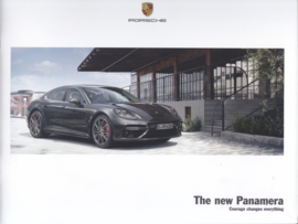 Panamera new model intro brochure, 24 pages, A4-size, 06/2016, English