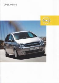 Meriva brochure, 14 pages, 03/2003, Dutch language