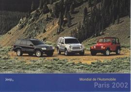 Jeep model program, A6-size postcard, Paris 2002