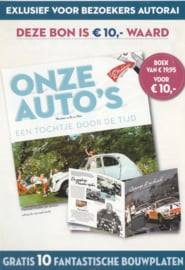 Our Cars book coupon, DIN A6-size, flyer, Dutch issue, 2008