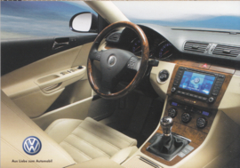 Passat Variant dashboard & interior postcard,  A6-size, German language, Austria