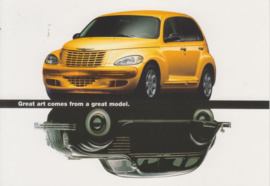 PT Cruiser, A6-size postcard, mid 1999, issue Boomerang Netherlands