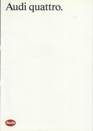 quattro brochure, 16 pages, 01/1988, Dutch language