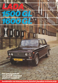 1500/1600 GL Sedan brochure, 6 pages, about 1978, Dutch language