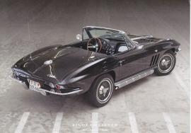 Corvette Stingray Convertible, continental size postcard, Bildermeister, 01/2013