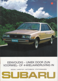 Program with 4WD brochure, 20 pages, Dutch language, 10/1981