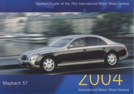 Maybach 57, A6-size postcard, Geneva 2004