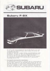 F-9X / ACX-II brochure, 8 pages, Dutch language, about 1985