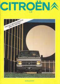 C25 Vans brochure, 8 pages, 1982, Dutch language