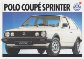 Polo Coupé Sprinter leaflet, 2 pages,  A4-size, Dutch language, about 1983