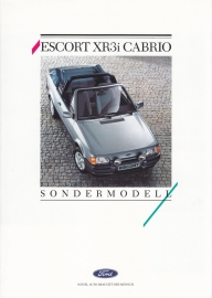 Escort XR3i Cabriolet brochure, 4 pages, 08/1987, German language