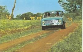 124 Sedan, standard size, Italian postcard (Sarig), about 1967