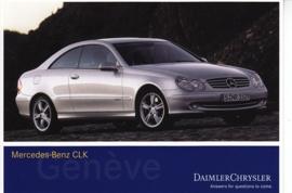 Mercedes-Benz CLK, A6-size postcard, Geneva 2002