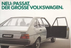 Passat 4-door Hatchback postcard,  A6-size, 1978, German language