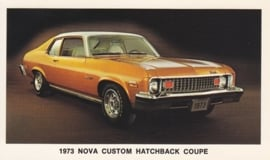 Nova Custom Hatchback Coupe,  US postcard, standard size, 1973